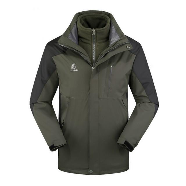 【DZRZVD 杜戛地】15016男款兩件式外套(防風.擋雨.保暖三合一沖鋒衣)