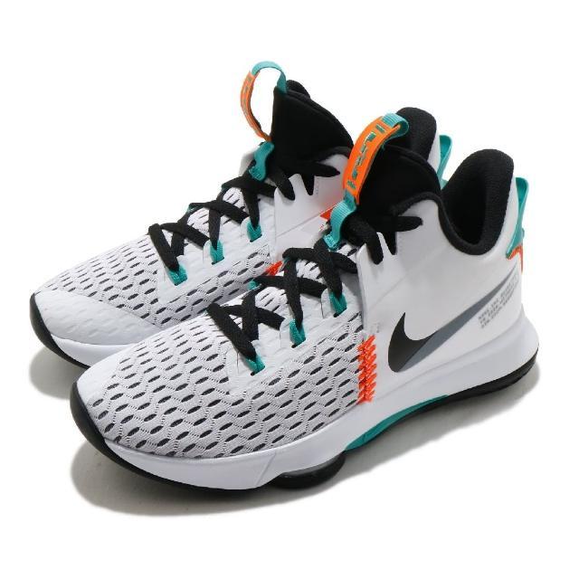 【NIKE 耐吉】籃球鞋 LeBron Witness V 男鞋 明星款 避震 包覆 運動 球鞋 LBJ 白 綠(CQ9381-100)
