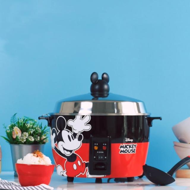 【限量福利品 迪士尼米奇系列】304不鏽鋼電鍋(11人份 經典紅)