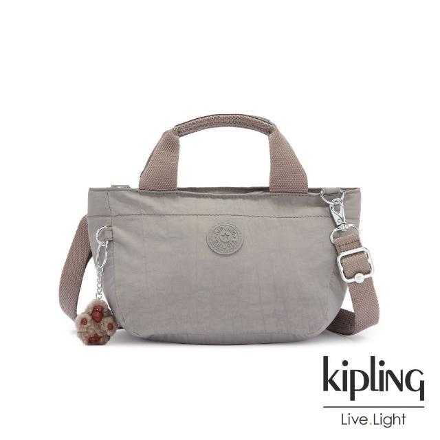 【KIPLING】沉穩時尚灰手提兩用斜背包-SUGAR S II