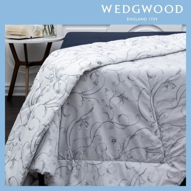 【WEDGWOOD】100%長纖棉磨毛印花舒眠水洗被-豐饒之角兩色任選(雙人180x210)