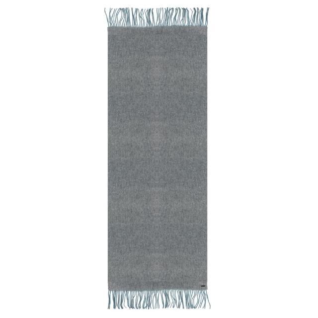 【agnes b.】Sport b. 雙面撞色圍巾(灰/藍)
