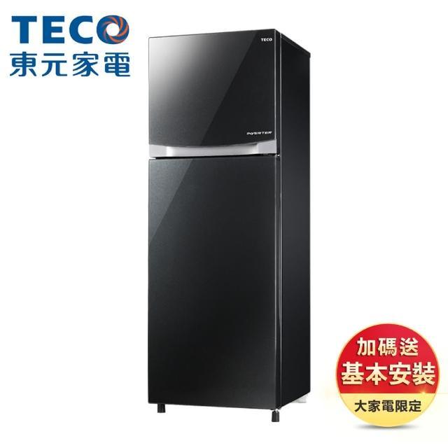 【TECO 東元 ★送感應給皂機】231公升 二級能效變頻雙門冰箱(R2307XGBL)