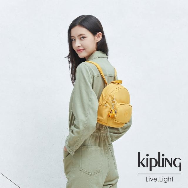 【KIPLING】橘黃鬱金色輕巧迷你後背包-MINI BACKPACK
