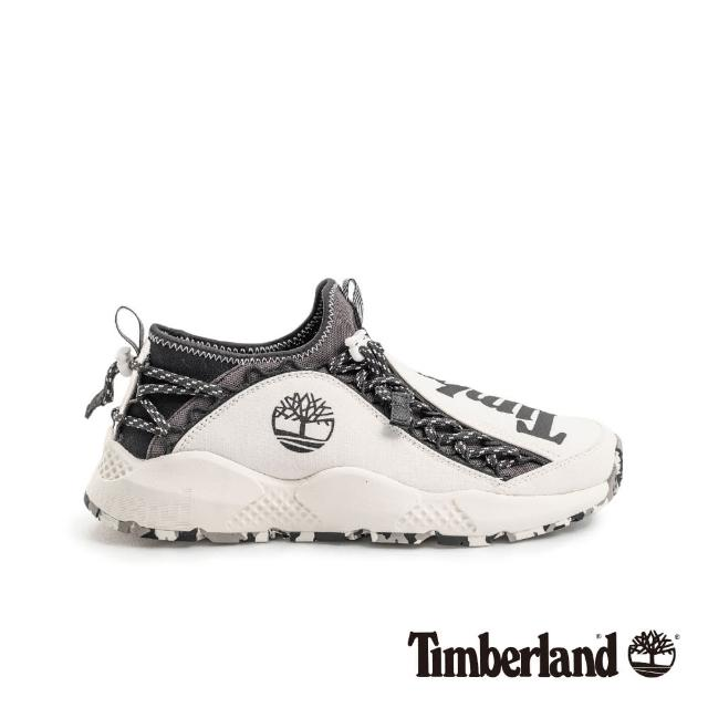 【Timberland】男款NNH白色織物運動鞋(A1USX100)