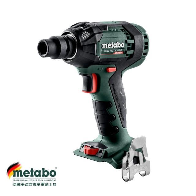 【metabo 美達寶】德國美達寶 18V鋰電無刷衝擊板手機 SSW 18 LTX 300 BL(無充電器電池)