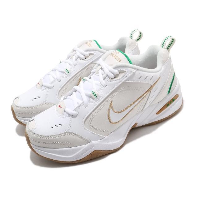 【NIKE 耐吉】休閒鞋 Air Monarch IV 運動 男女鞋 復古 舒適 厚底 老爹鞋 情侶穿搭 白 金(415445-103)