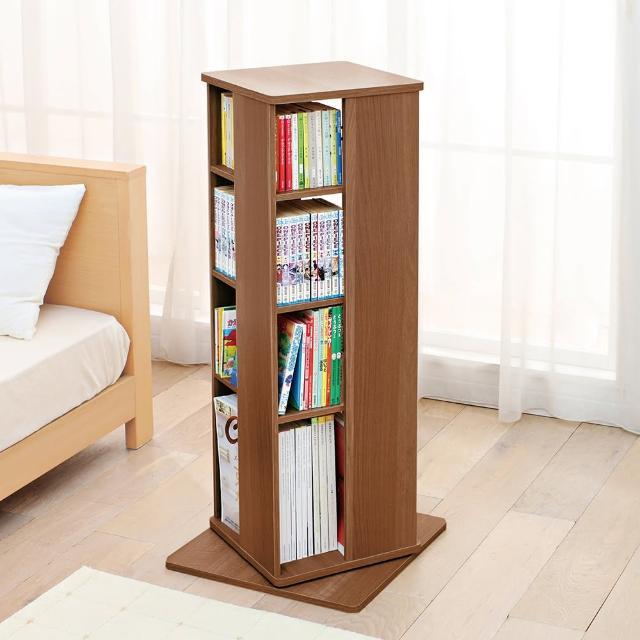 【IRIS】360°四層旋轉書櫃/書架 CR-1000(旋轉書架/收納容量多/找書快速)