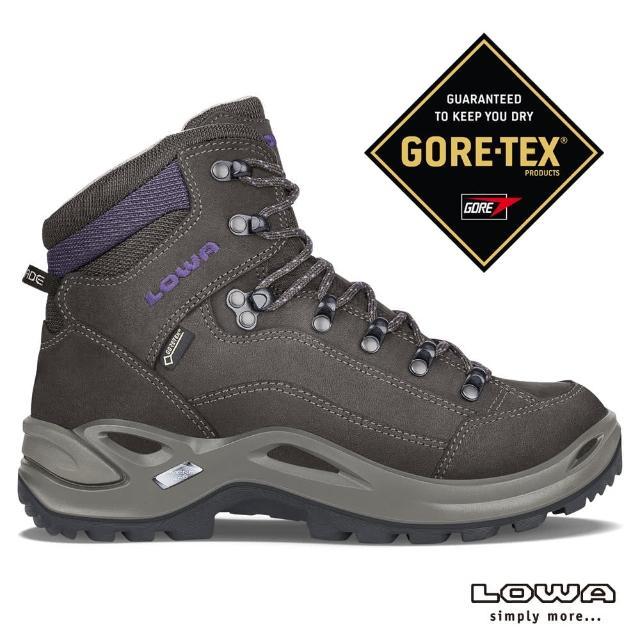【LOWA】女 中筒多功能健行鞋 棕/紫梅 RENEGADE GTX MID Ws(LW320945-7937/登山鞋)