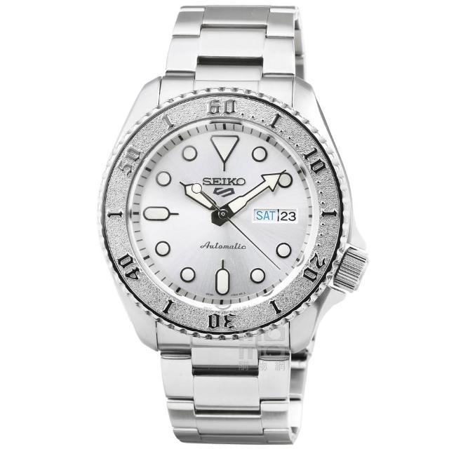 【SEIKO 精工】精工次世代5號機械鋼帶腕錶-銀水鬼(SRPE71K1)
