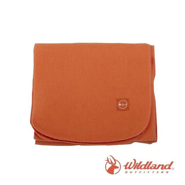 【Wildland 荒野】中性 輕柔PILE保暖圍巾-橘色 W2010-84(禦寒保暖/戶外休閒/保暖圍巾/輕柔圍巾/圍巾)