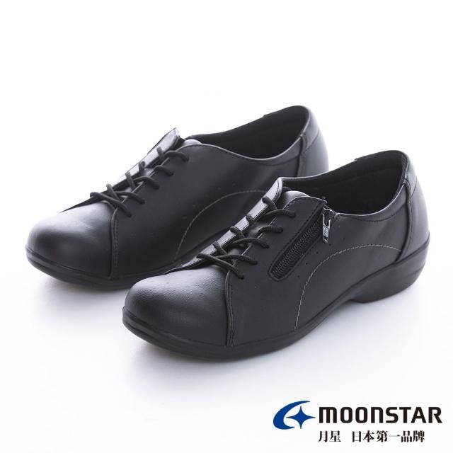【MOONSTAR 月星】拇指外翻系列-4E寬楦拇指外翻休閒鞋(黑色)