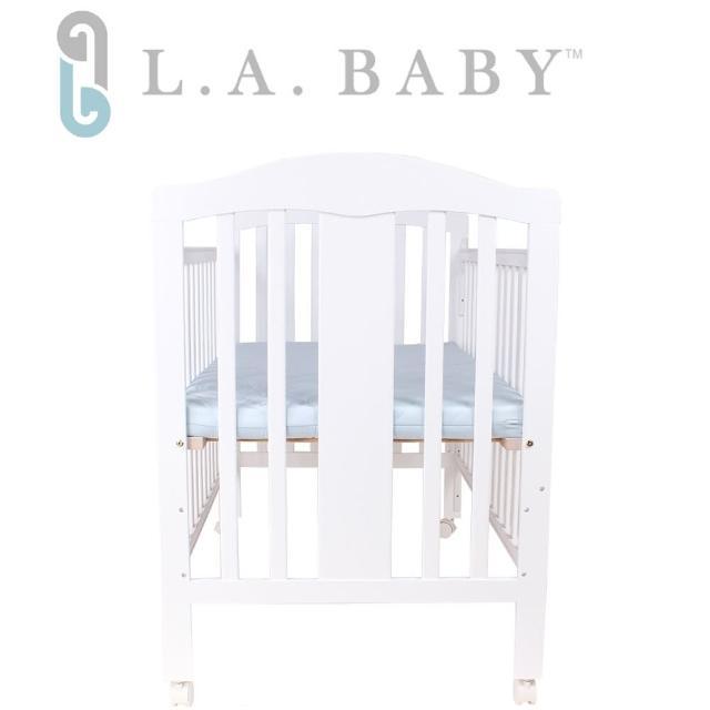 【L.A. Baby】里維爾嬰兒大床-白色 咖啡色(贈側板+耶棕床墊)