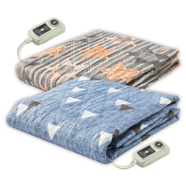 【韓國甲珍】變頻式恆溫電熱毯/單個花色隨機出貨(KR3800J-雙人)