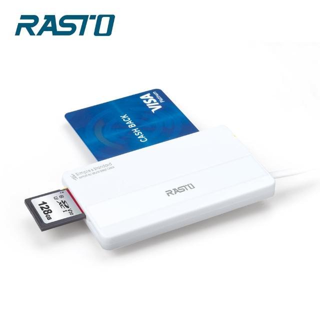 【RASTO】RT4 超薄型晶片ATM+記憶卡複合讀卡機