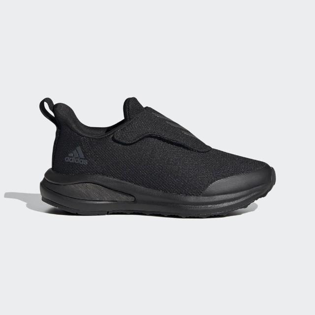 【adidas 愛迪達】慢跑鞋 中大童 兒童 童鞋 運動鞋 緩震 訓練 健身 FORTARUN AC 黑 FY1553