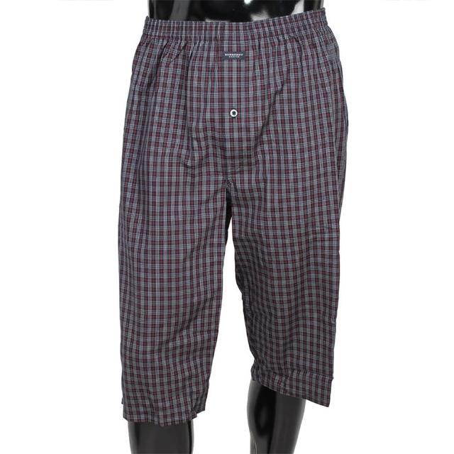 【BURBERRY 巴寶莉】細格紋棉質五分居家短褲(深藍)