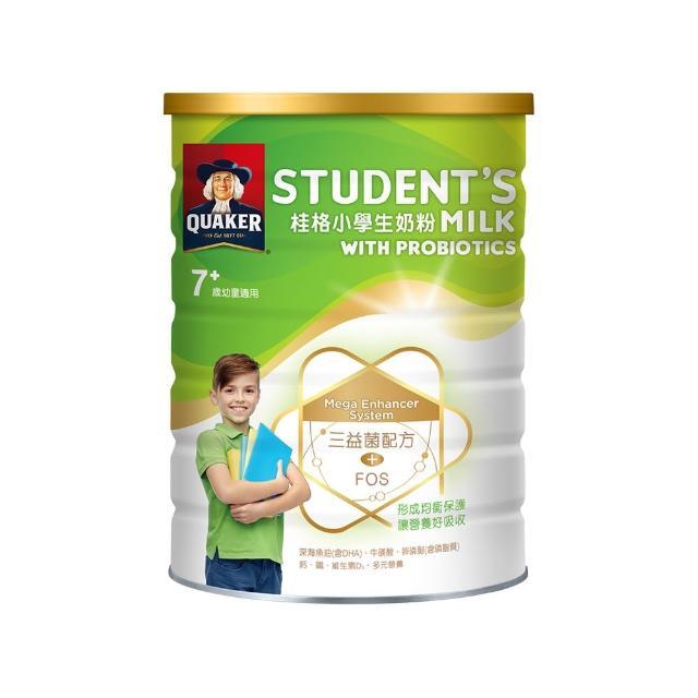 【QUAKER 桂格】三益菌小學生奶粉 1500g/罐(原明亮小學生改版新包裝)