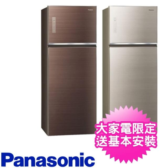 【Panasonic 國際牌】485公升玻璃雙門變頻冰箱(NR-B489TG-N/NR-B489TG-T)