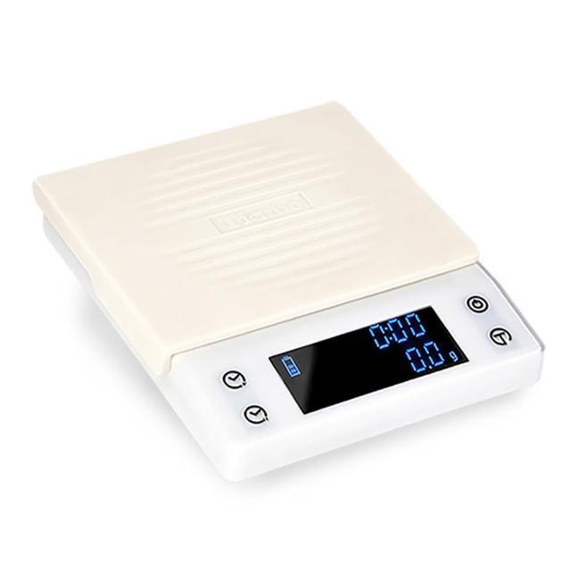 【Tiamo】CT2000專業計時電子秤 2kg - 簡約白(HK0537W)