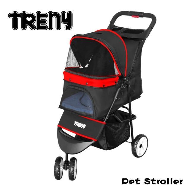 【TRENY】快速收合寵物推車-紅