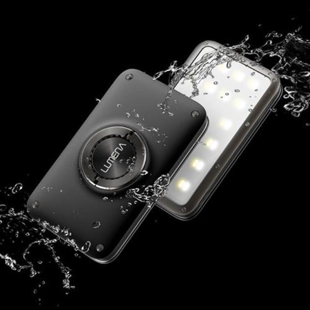 【N9】N9-LUMENA2 行動電源照明LED燈-星空黑 送S型雙面扣環(LUMENA2-Black)