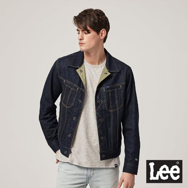 【Lee】高CP值 雙面穿 男牛仔外套-藍/軍綠