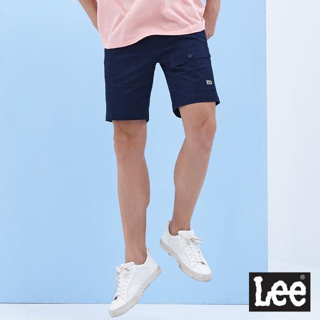 【Lee】902 大口袋 男休閒短褲-丈青