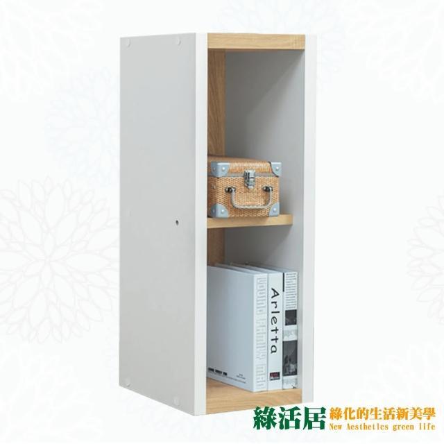 【綠活居】丹麥   現代1.1尺二格收納櫃(二色可選)