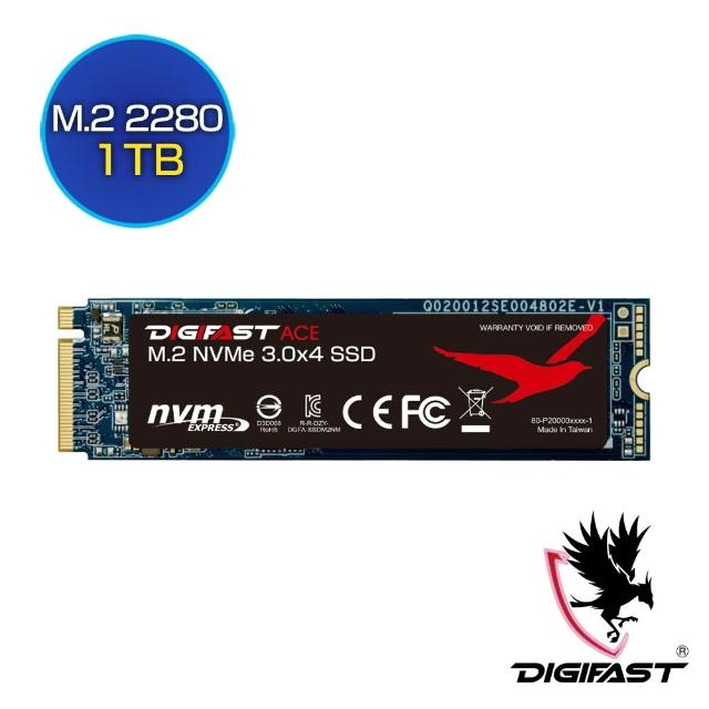 【DIGIFAST 迅華】ACE 1TB NVMe M.2 2280 PCIe 固態硬碟