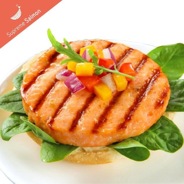 【美威鮭魚】鮭魚漢堡排x6包(270g/包)