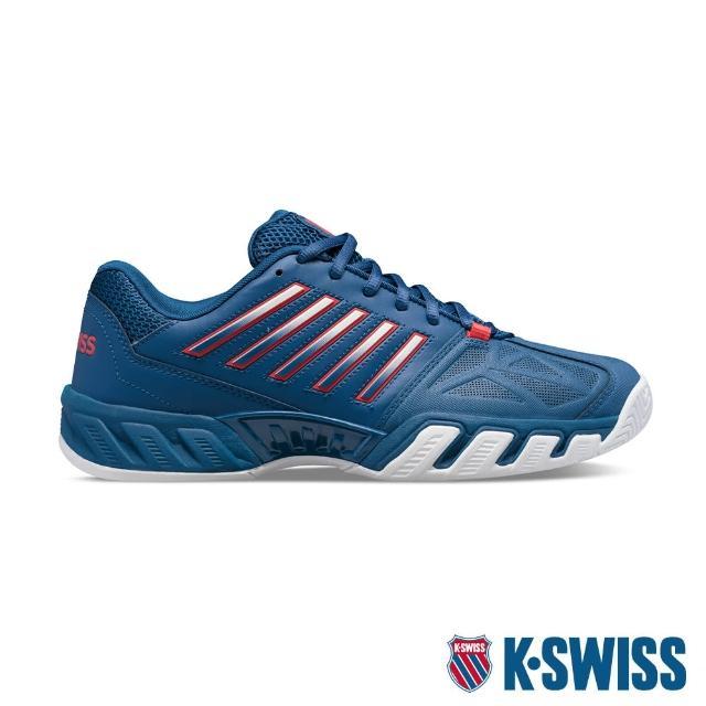 【K-SWISS】輕量進階網球鞋 Bigshot Light 3-男-藍/紅(05366-430)
