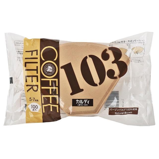 【咖樂迪咖啡農場】獨創商品 咖啡過濾紙103(100枚)