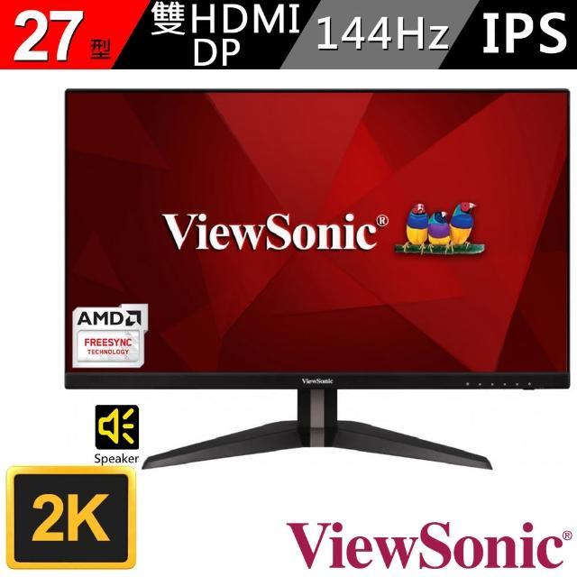 【ViewSonic 優派】VX2705-2KP-MHD 27型IPS 2K電競電腦螢幕(16:9/IPS/144Hz/HDMI)