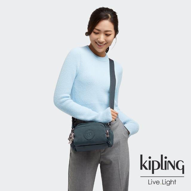 【KIPLING】知性優雅藍好收納隨身斜背包-JENERA MINI