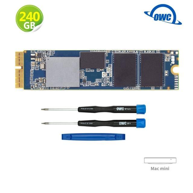 【OWC】Aura Pro X2 240GB NVMe SSD(帶有安裝工具和組件的 Mac mini 升級套件)