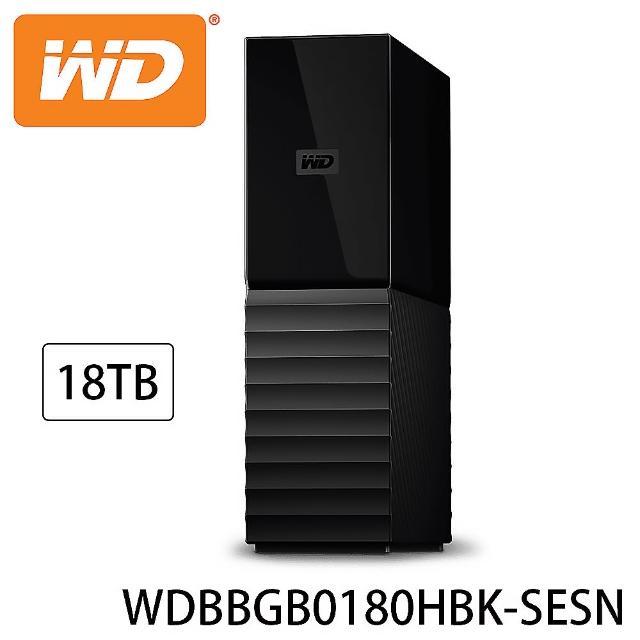 【WD 威騰】My Book 18TB USB3.0 3.5吋外接硬碟(WDBBGB0180HBK-SESN)
