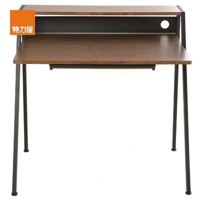 【特力屋】品味工藝簡約電腦桌 深木色款 採E1板材