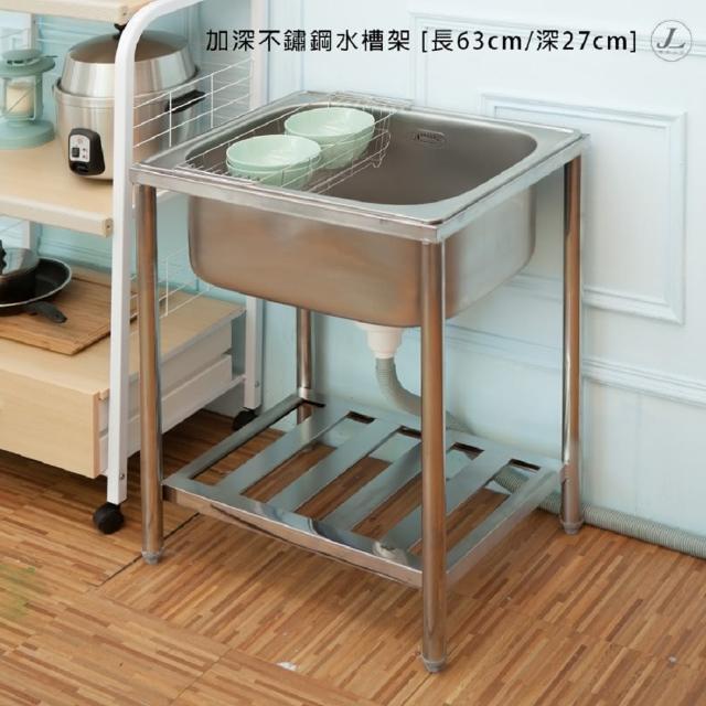 【kihome奇町美居】加深不鏽鋼水槽架-長63/深27cm