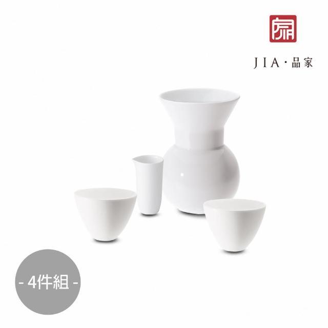 【JIA Inc 品家家品】官帽系列-貪杯陶瓷茶壺雙杯4件組