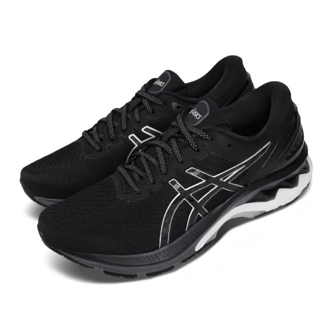 【asics 亞瑟士】慢跑鞋 Gel-Kayano 27 2E 寬楦 男鞋 亞瑟士 路跑 透氣 高支稱 亞瑟膠 黑 灰(1011A835001)