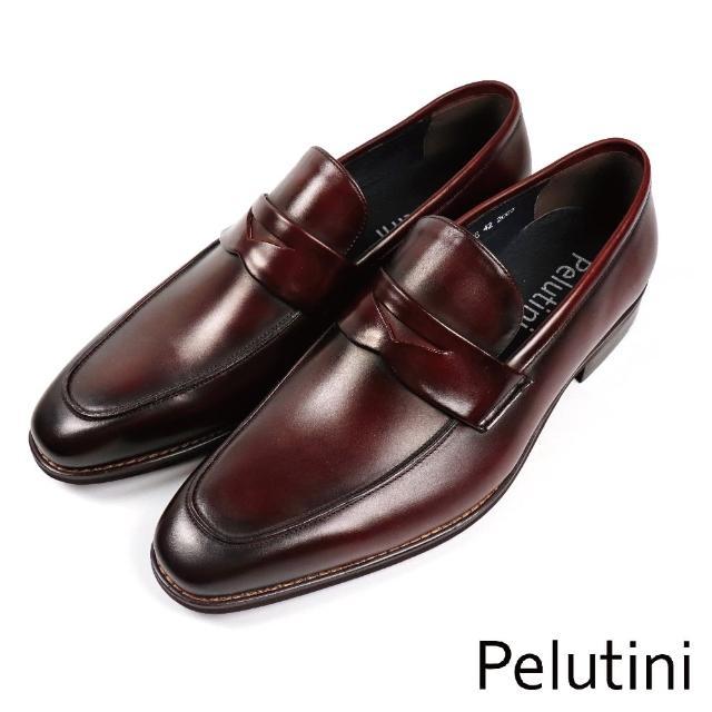 【Pelutini】都會經典簡約樂福鞋 酒紅色(8733-WIN)