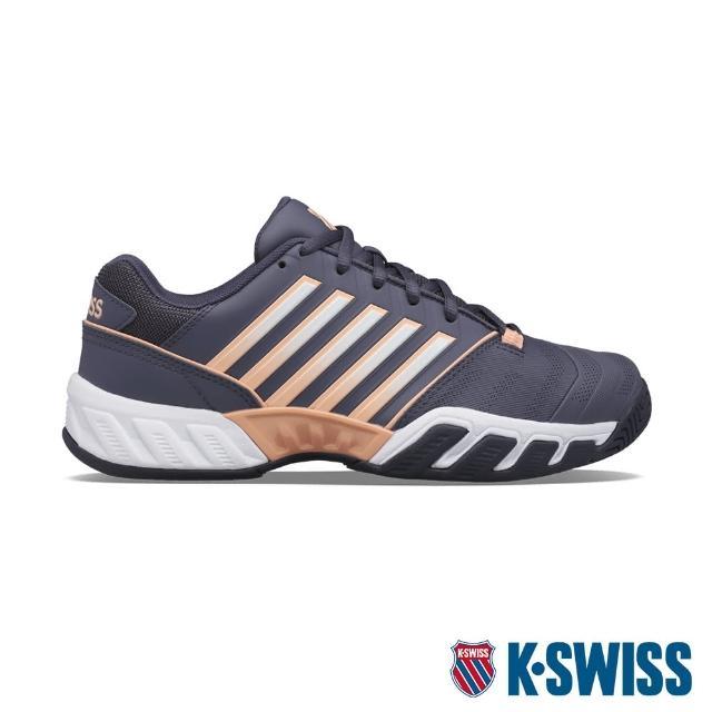 【K-SWISS】輕量進階網球鞋 Bigshot Light 4-女-深紫/橘(96989-034)