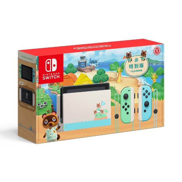 【Nintendo 任天堂】母親月限定 Switch 動物森友會主機 電力加強版(台灣公司貨)