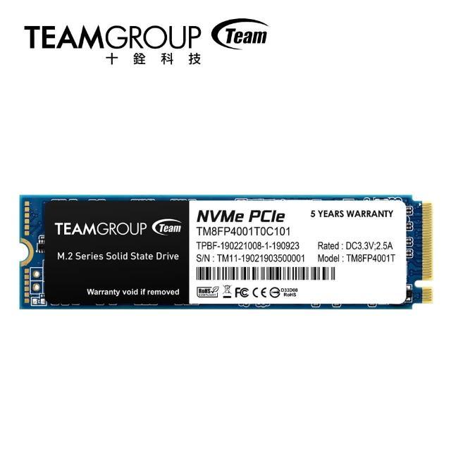 【Team 十銓】TEAM 十銓 MP34 1TB M.2 PCIe SSD 固態硬碟
