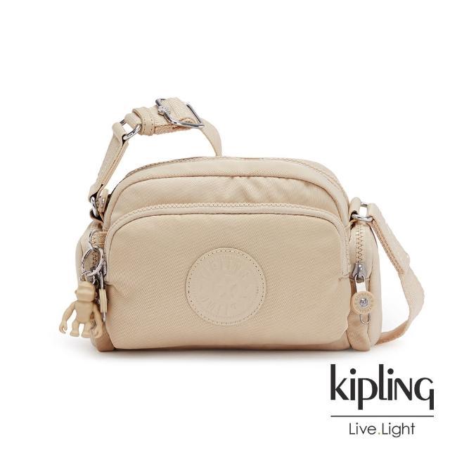 【KIPLING】焦糖奶茶棕好收納隨身斜背包-JENERA MINI