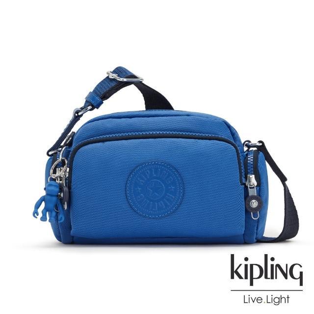 【KIPLING】時髦蔚藍好收納隨身斜背包-JENERA MINI