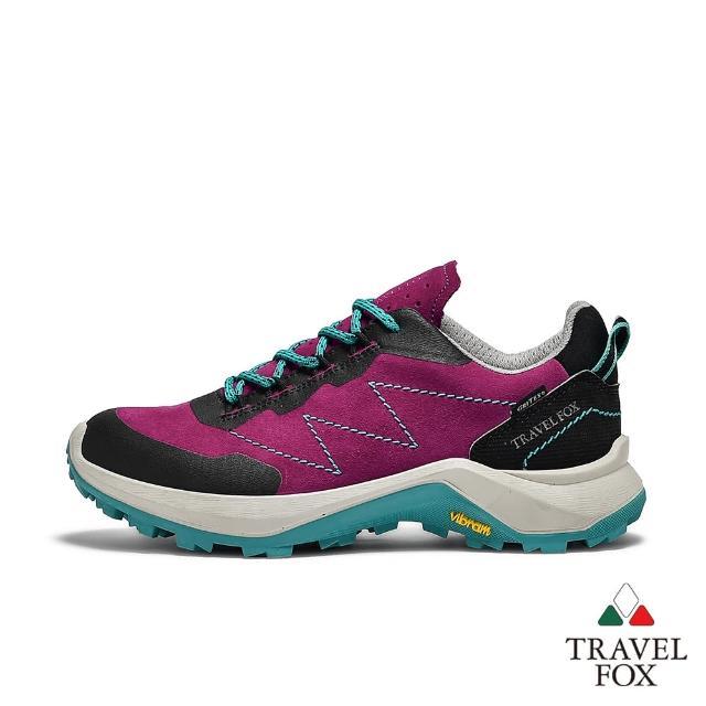 【TRAVEL FOX 旅狐】女款 歐洲進口防潑水抗寒戶外登山鞋(921401-243 桃紅)