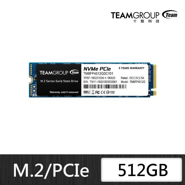 【Team 十銓】TEAM 十銓 MP34 512GB M.2 PCIe SSD 固態硬碟