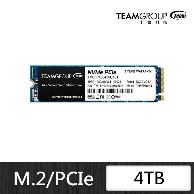 【Team 十銓】TEAM 十銓 MP34 4TB M.2 PCIe SSD 固態硬碟